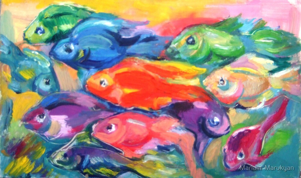parrot fishes  by Mariam  Marukyan