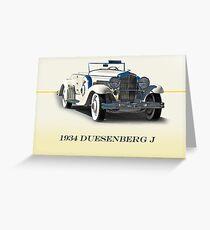 1934 Duesenberg J w/ID Greeting Card