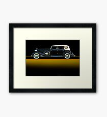 1933 Cadillac V16 Convertible Sedan w/o ID Framed Print