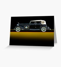 1933 Cadillac V16 Convertible Sedan w/o ID Greeting Card