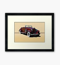1932 Packard 900 Convertible Coupe w/o ID Framed Print