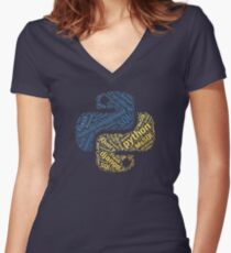 Python Programmer T-shirt & Hoodie Women's Fitted V-Neck T-Shirt