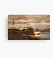Boats waiting for the tide Metal Print