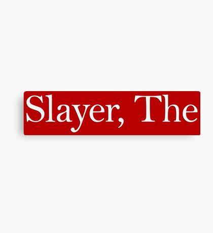 Slayer, The (white) Canvas Print