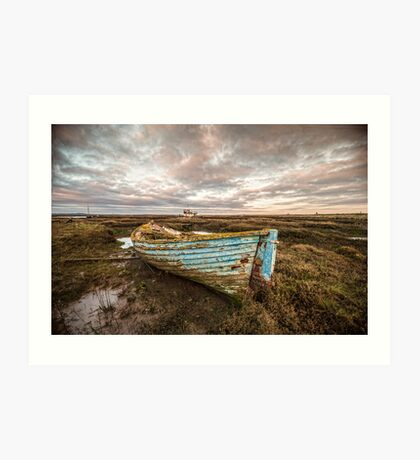 The Blue Boat Art Print