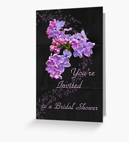 Bridal Shower Invitation - Floral Lilacs Greeting Card