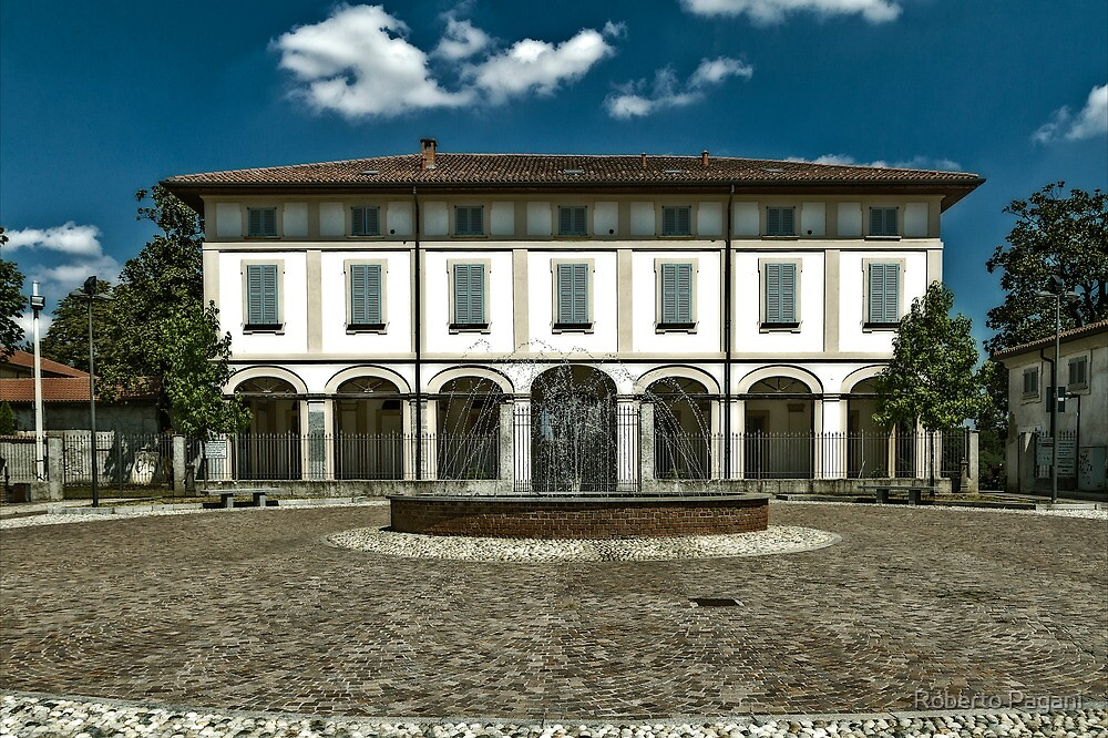 Fountain with country house by Roberto Pagani