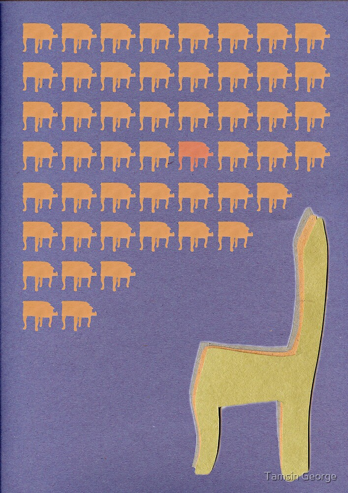 Chair Invaders by Tamsin George