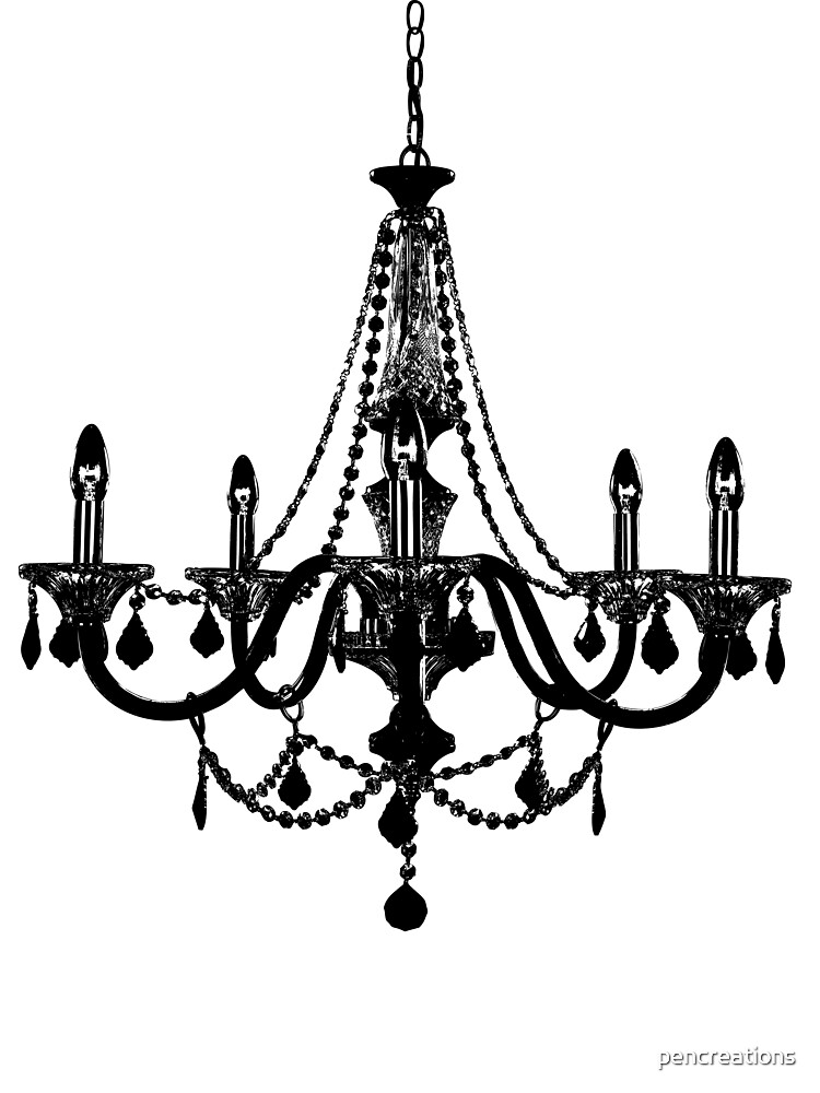 Black Chandelier by pencreations