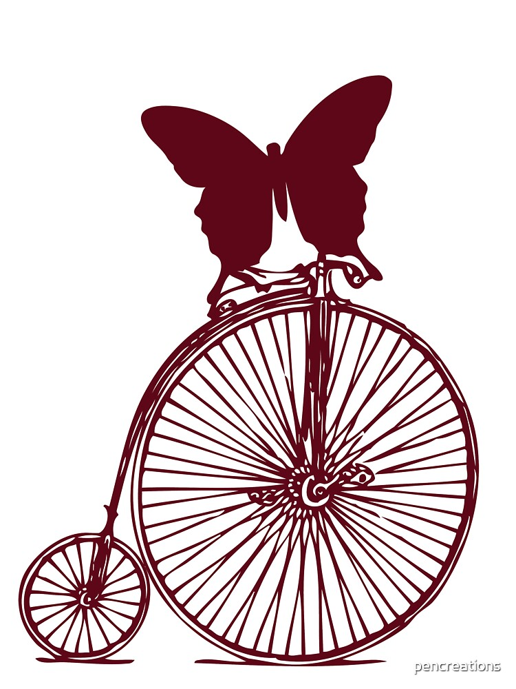 Butterfly on a Bike by pencreations