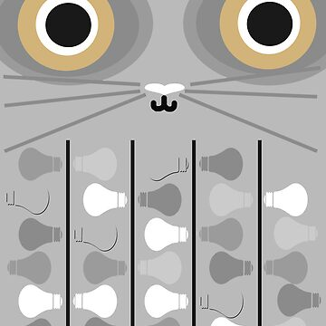 Cat Poster - Grey by icecreambonanza