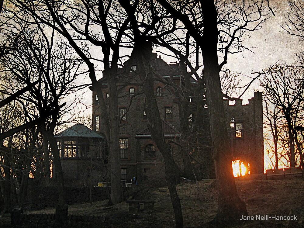 Sunset Through The Carport Archway, Kips Castle by Jane Neill-Hancock