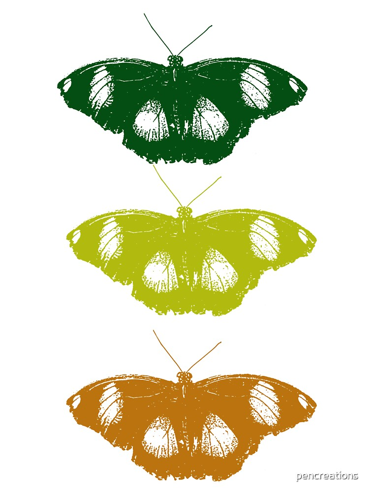 Three Butterflies by pencreations