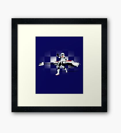 Speed Biker Framed Print