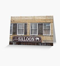 White Elephant Saloon  Greeting Card