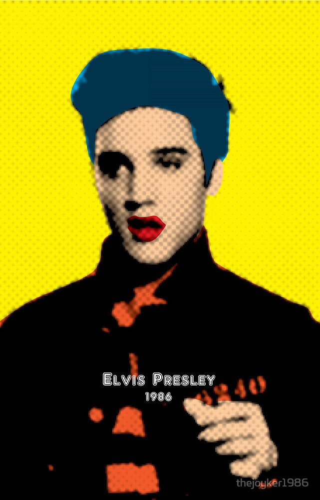Elvis Presley with Andy Warhol Pop Art\
