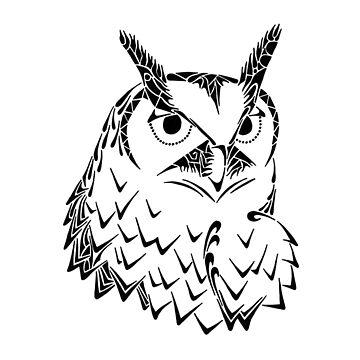 Doodle Hoot by artbybrad