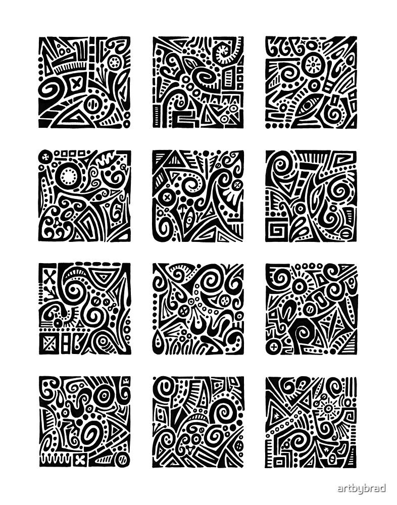 Doodle Dozen by artbybrad