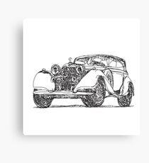 retro auto car Canvas Print