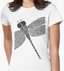 Dragon Fly Doodled Women's Fitted T-Shirt