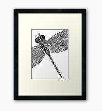 Dragon Fly Doodled Framed Print