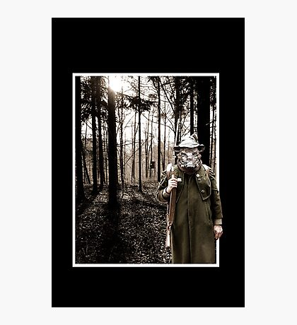 Wild boar / Hunter in the Woods VRS2 Photographic Print