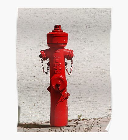 Bright Red Fire Hydrant VRS2 Poster