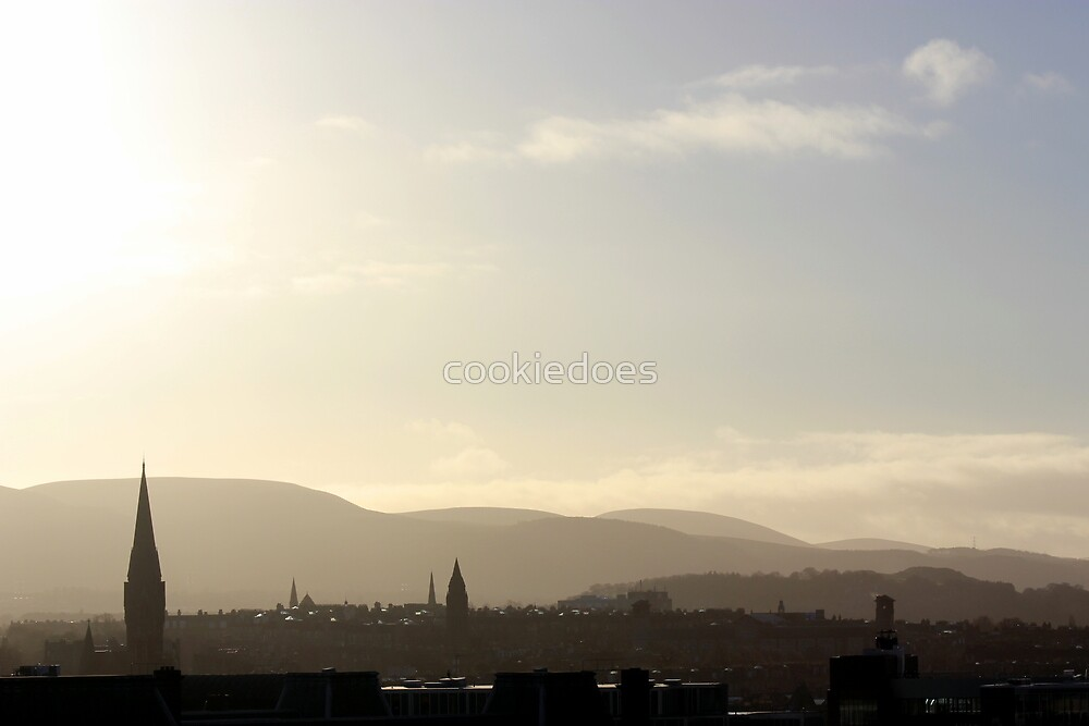 Edinburgh Skyline by cookiedoes