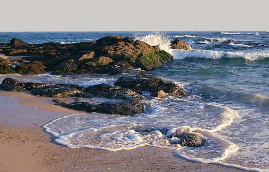 morning at the rocks - south kingscliff .. by gail woodbury