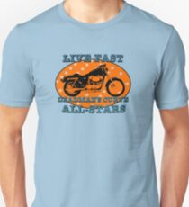 Live Fast Deadmans Curve All Stars Motorcycle Unisex T-Shirt