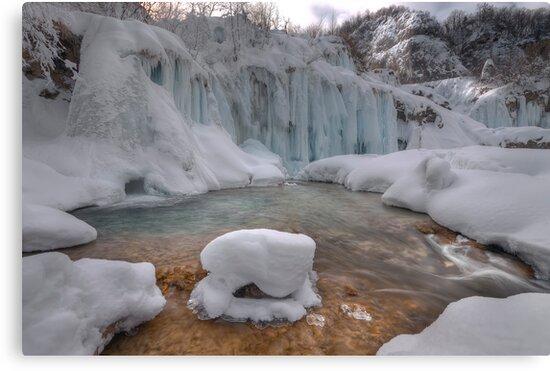 Plitvice in winter by Ivan  Prebeg