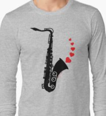 Sax and Love Long Sleeve T-Shirt