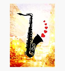 Sax and Love Photographic Print