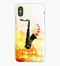 Sax and Love iPhone Case