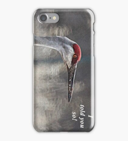 I told you so! iPhone Case/Skin