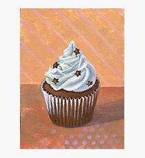 Chocolate Stars Cupcake Photographic Print