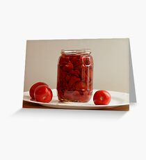 canned tomatoes Greeting Card