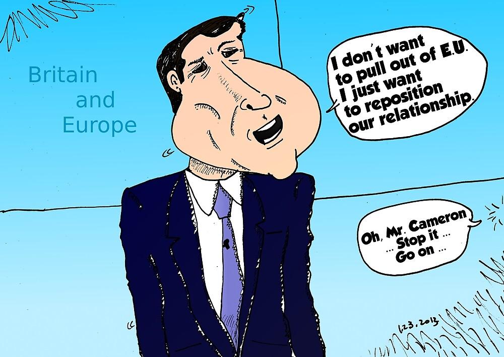David Cameron caricature by Binary-Options