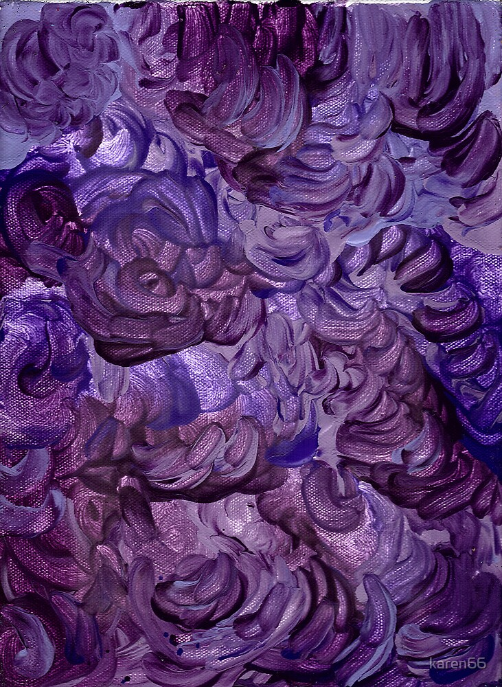 PASSIONATE FOR PURPLE CANVAS by karen66