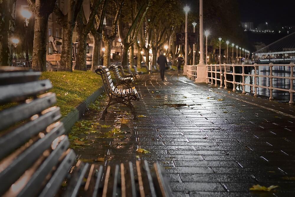 Loneliness under the rain by Unai Ileaña