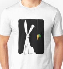 Rabbit & Carrot - Black Unisex T-Shirt