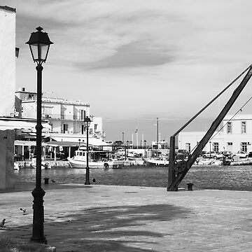 Rethymno harbour mono by bigbyte