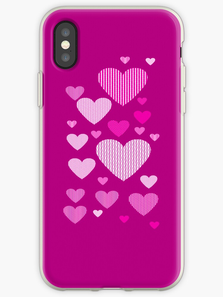 Patchwork Pink Hearts by ScaleDesigns