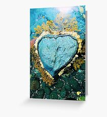 """Heart Stone"" by Justin Lawson Greeting Card"