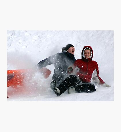 SNOW WIPEOUT! Photographic Print