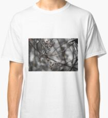 Resting butterfly, black & white Classic T-Shirt
