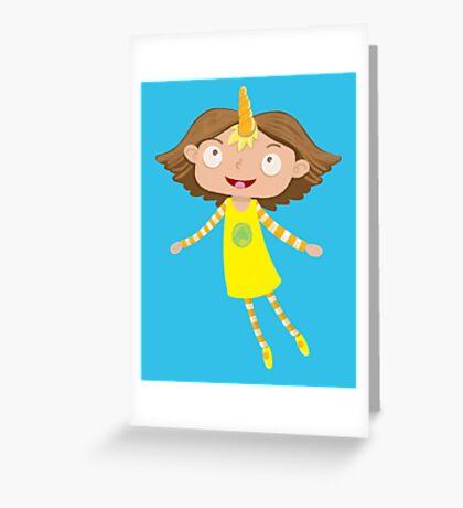 cute unicorn girl Greeting Card