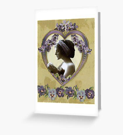 Lady Violet Valentine Greeting Card