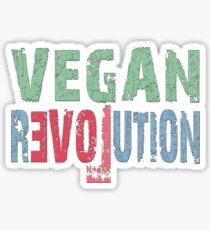 VEGAN REVOLUTION - vegan, vegetarian, animal rights, cruelty to animals Sticker