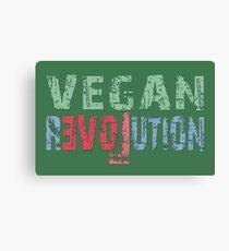 VEGAN REVOLUTION - vegan, vegetarian, animal rights, cruelty to animals Leinwanddruck